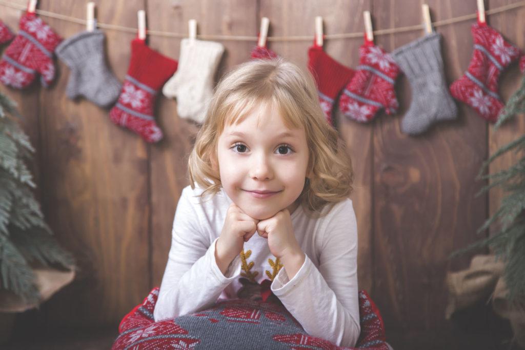 Csenge karácsonyi fotózás